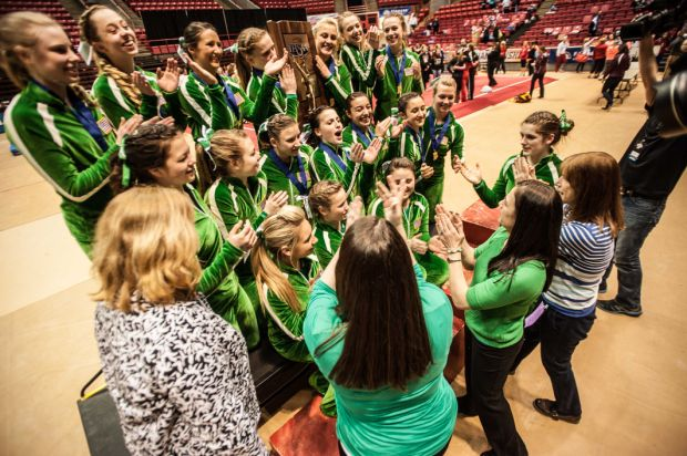 Valparaiso rallies to win record 10th gymnastics state championship