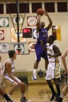 Merrillville's Jeremiah Jones takes a shot