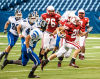 Portage's Taylor Sebben gains yardage after catching a screen pass