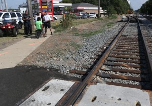 Railroad crossers urged to stay on sidewalk for safety's sake