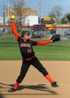 Sarah Crews deliver a pitch against Lincoln-Way Central