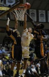 Valparaiso's Jordan Coleman looks to go up with the ball against Murray State during Friday's home opener at the ARC.