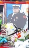 Hundreds turn out to honor fallen firefighter