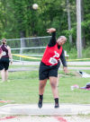Portage's Brianna Coleman placed second in the shot put