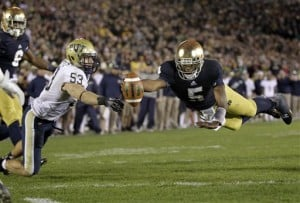 Kelly's message: Notre Dame close to title caliber