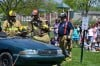 Firefighters demonstate Jaws of Life at Immanuel Lutheran