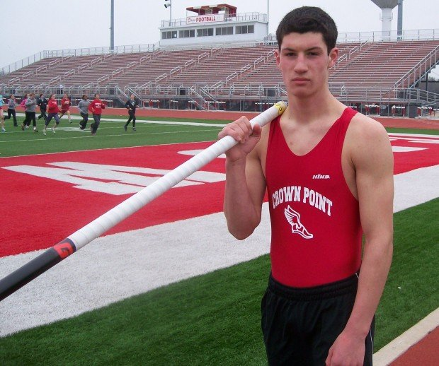 Crown Point Vaulter Jordan Kelly Shooting For 16 Feet, And
