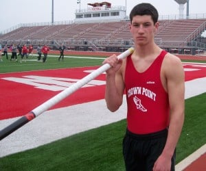 Crown Point vaulter Jordan Kelly shooting for 16 feet, and more