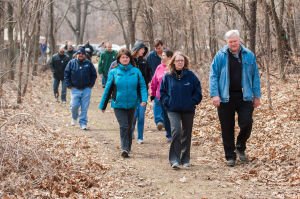 Employees commit to healthy habits at walking event