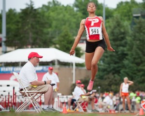 Gray clouds, silver linings for region girls at state track meet