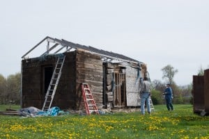 Linden log cabin finds a new home