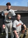 Jesse Mills and Louie Grounds, Westville baseball