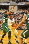 L.C.'s Tye Wilburn slashes to the basket in state final