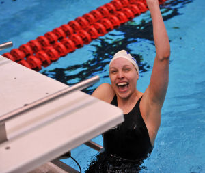 Crown Point girls swim team finishes second at state