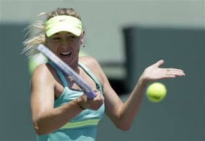 Sharapova reaches Key Biscayne final for 5th time  