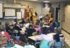 Lions present dictionaries to third-graders