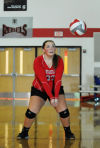 T.F. South girls volleyball player Gabbe Mullen