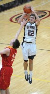 Lowell's Austin Richie shoots over Andrean's Nick Davidson