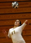 Girls volleyball, Marian Catholic at Munster