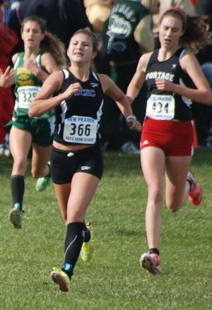 Freshman Timm has fit right in with state-bound Portage girls cross country team