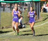 Hobart's Celena Guerrero (right) and Mindy Whidden (left) run together to help keep each other up to pace Saturday morning during the last leg of the Bob Thomas Invitational. Guerrero finished second in 1845, while Whidden was fourth in 1939.
