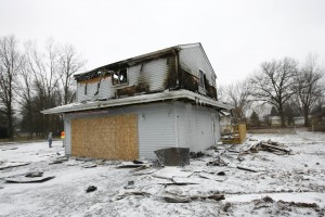 Fire destroys home under construction in Porter