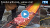 Scientists grill steak - volcano style!