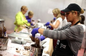 Tri Kappa members create chocolate eggs for fundraiser in Crown Point