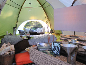 Glamping package part of fundraiser