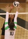 LaPorte's Sydnee Cooper goes up against Valparaiso's Tarrah Lasky
