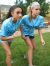 Mya Rodriguez, Sarah Steinhilber, Boone Grove girls cross country