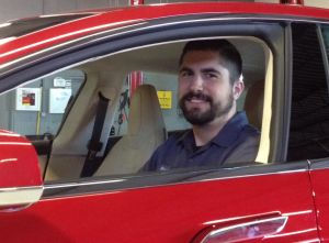 Top tech graduate in the driver's seat at auto company