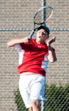 Crown Point's Bryce Bonin defeated Munster's Arlo Detmer at No. 1 singles