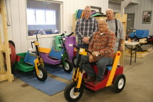 Nonprofit builds hand-powered carts for those without use of legs