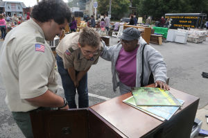 Crown Point Boy Scout Troop 45 holds its annual garage sale