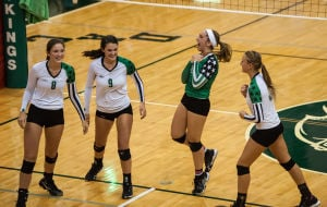 Vikings sweep Trojans in early DAC volleyball action