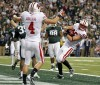 No. 15 Wisconsin beats No. 11 Michigan State 42-39