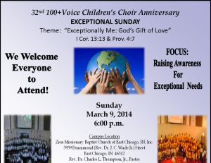 Children's Choir Anniversary