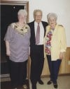 Sisters Jeanette Wobith and Phyllis Lemke, with Phyllis' Husband Bob in 1995