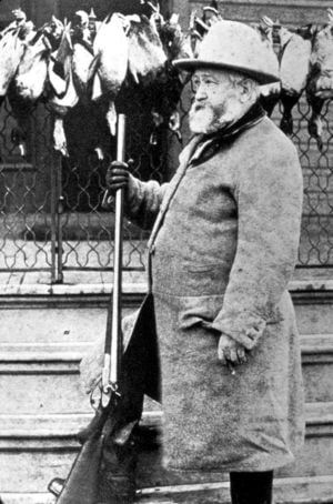 President Benjamin Harrison hunts the Kankakee