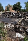 Fire of suspicious orgin destroys condemned vacant restaurant