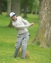 Lake Central's Ryan Dahlkamp watches at No.18 as his ball rolls onto the green Friday afternoon the Uebele Invitational.