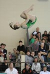 Valparaiso's Jacquelyn Kracich dives a Reverse-1.5 Somersault