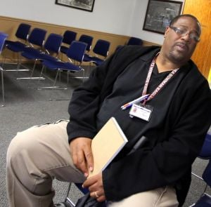 Roosevelt grad Mark Hubbard helps keep the peace among prison population
