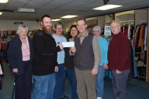 The Porter County Community Foundation presents grant to the Portage Resale Shop