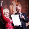 OFFBEAT: Dolly Parton spends birthday in Chicago with play audience, governor and city honors