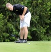 Hobart's Alex Metz putts on No. 9 Friday at Forest Park during the Valparaiso Sectional.
