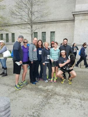 Run unites fallen police officer's family