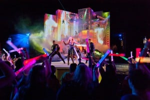 OFFBEAT: Six Flags launches nightly laser, music stage production