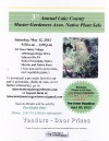 Third Annual L.C. Master Gardeners Native Plant Sale May 12
